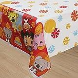 """Amscan Adorable Ni Hao Kai Lan Party Table Cover (1 Piece), Red, 54 x 96"""""""