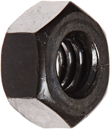 Steel Hex Nut, Black Oxide Finish, Grade 5, ASME B18.2.2, 1/4