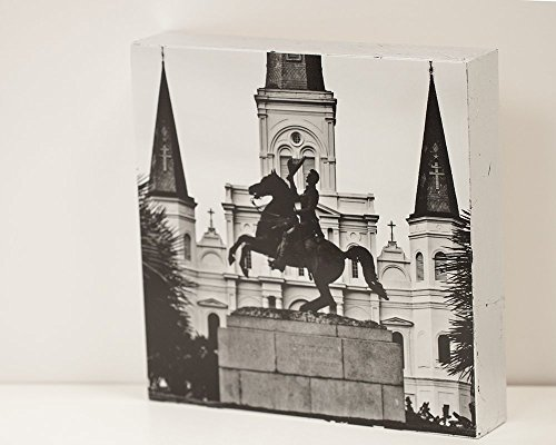 Jackson Square Statue - Jackson Square - 8x18 Photo Standout, OOAK Handmade Wall Art From New Orleans, LA