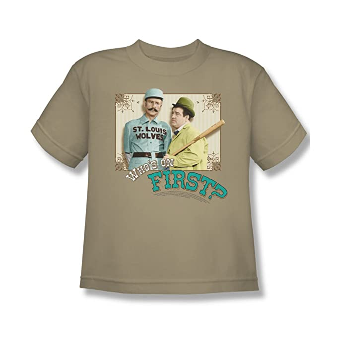 amazing price save up to 80% special sales Amazon.com: Abbott & Costello - Youth Who'S On First T-Shirt ...