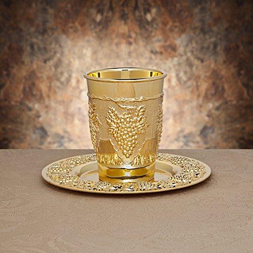 Studio Silversmiths Silverplate Kiddush Cup (gold-plated)