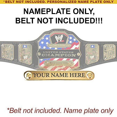 Personalized Nameplate for Adult WWE United States Championship Replica Belt by WWE