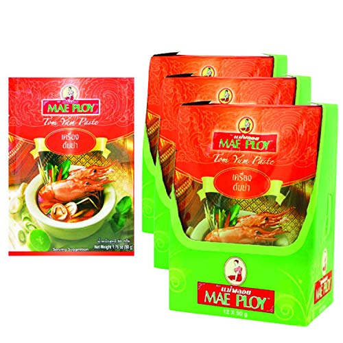 36 Pack MAE PLOY Thai Tom Yum Paste  50 g. wholesale bulk pack