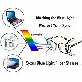 Cyxus Blue Light Filter [Transparent Lens] Glasses, Better Sleep Anti Eyestrain Headache (Leopard Print Frame)