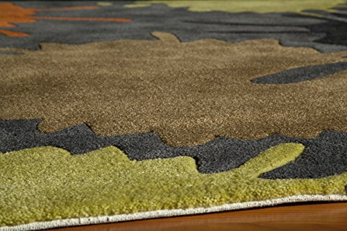 Momeni Rugs LMOTWLMT-9GRY80A0 Lil' Mo Hipster Collection, Kids Themed Hand Carved & Tufted Area Rug, 8' x 10', Grey