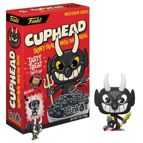 Funko Pop Cereal MULTIGRANO Y Pocket Devil de Cuphead Exclusivo