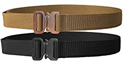 "Elite CO Shooters Belt with Cobra Buckle, 1.5"", Black, Medium Review"