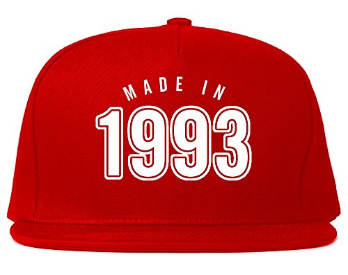 Made In 1993 And Kicking Ass Ever Since Year Snapback Hat Cap Red