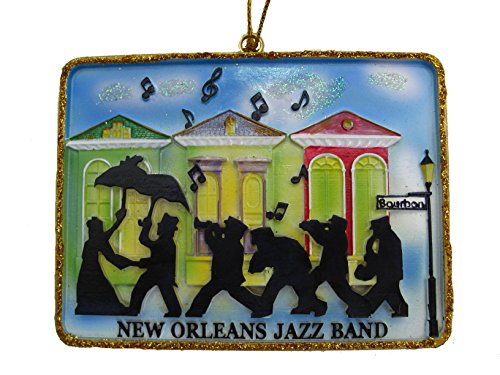 New Orleans Jazz Band Christmas Ornament New Orleans Room decor decoration Second Line French Quarter favor wedding favor souvenir Christmas ornament gift Wedding gift Jazz Fest keepsake w/ Pouch (Quarter Fest French)