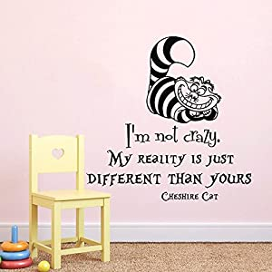 Wall Decals Quotes Alice In Wonderland I M Not Crazy My