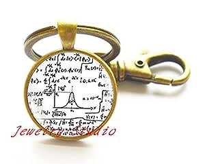 Encantador moda llavero matemáticas fórmulas matemáticas