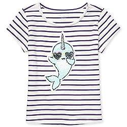 Girls Short Sleeve Flip Sequin T-Shirt
