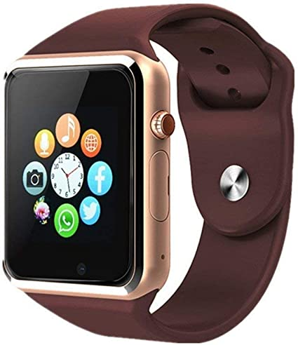 Bluetooth Smart Watch Touch Screen Smartwatch with Camera for Android (Golden)