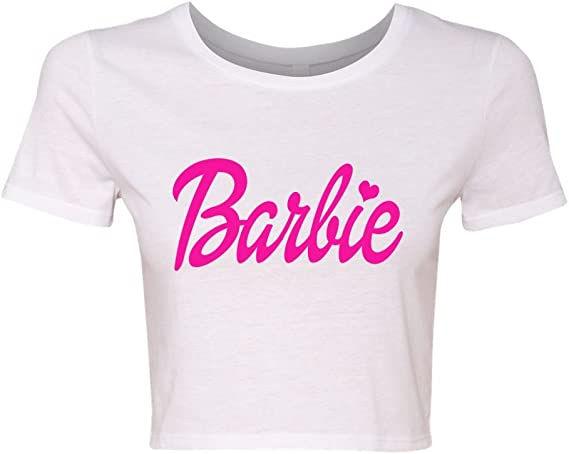 cropped t-shirt with print Barbie clothes