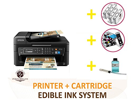 YummyInks Brand DELUXE PACKAGE 2: YummyInks Brand Epson WorkForce WF-2750 Wireless BUNDLED PRINTING SYSTEM - includes extras