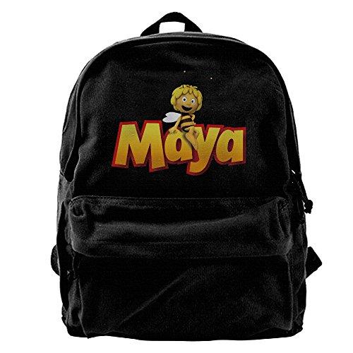 Maya The Bee Comic Book Series German Book Canvas Backpack School Rucksack Travel Backpack Laptop Backpack Black