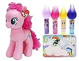 sweet style pinkie pie - Ty Sparkle Beanie Buddies My Little Pony Plush 11-inch and Lip Balm Set (Pinkie Pie)