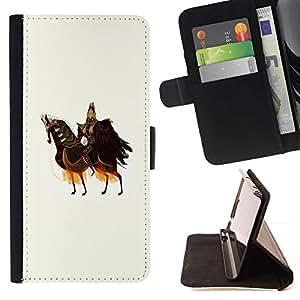 Momo Phone Case / Flip Funda de Cuero Case Cover - Caballo Caballero Guerrero Arte antiguo Rey Soberano - LG G4c Curve H522Y (G4 MINI), NOT FOR LG G4