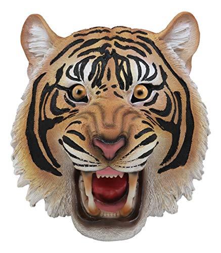 (Ebros Roaring Fearless Orange Bengal Tiger Head Wall Decor Plaque 8.5
