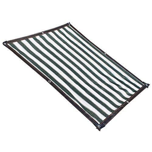 AJZGF Im Freien Sonnenschutznetz, Sonnenschutz Sonnenschutz Sonnenschutznetz Balkon GartenBlaume grün Sonnenschutz Sonnenschutznetz, dunkelgrün + weiß (Farbe   Dark Grün+Weiß, größe   4x4m)