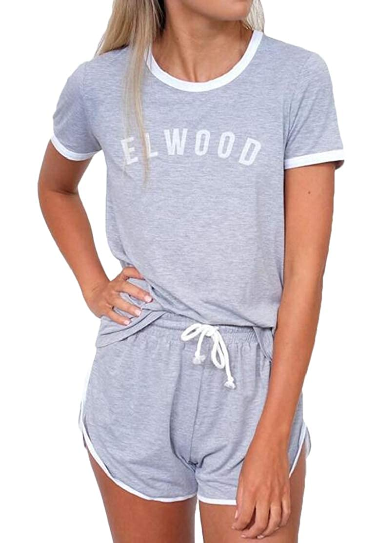 JXG Women Stylish Leisure Letter Printing Track Suit Sport Suit Set