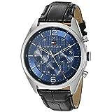 Tommy Hilfiger Men's 1791182 Sophisticated Sport Analog Display Quartz Black Watch