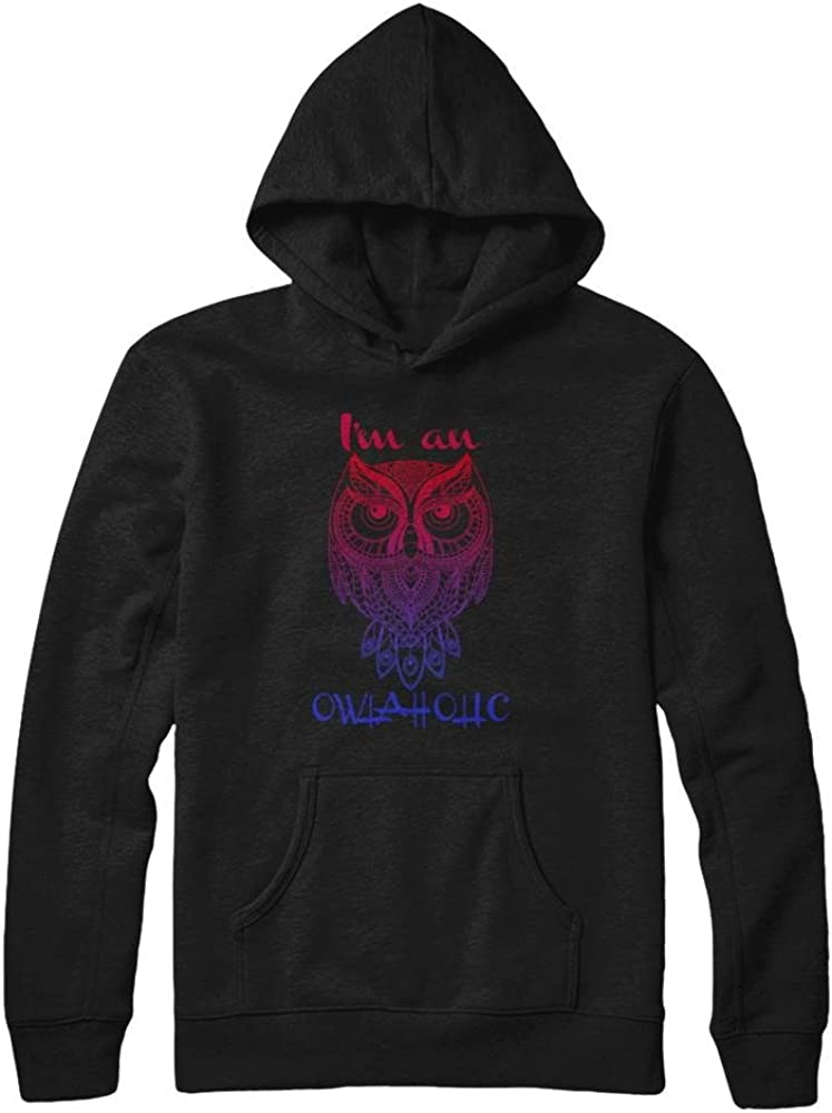 Pullover Hoodie Teely Shop Women/'s Womans Im an owlaholic Awesome Christmas Gildan