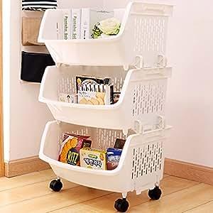 Amazon.com: AJ Storage Stacking Bins, Household Kitchen