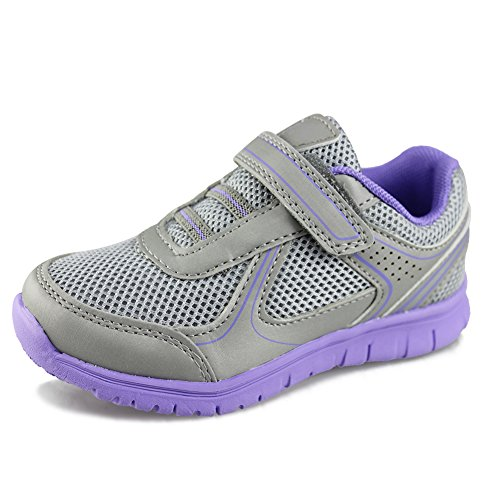 Hawkwell Breathable Lace-up Running Shoes(Little Kid/Big Kid),Grey Mesh,09 M US Toddler (09 Running Shoe)