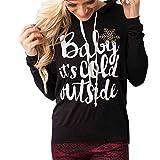 HN 2016 Blouse For Juniors Long sleeve Hoodie Sweatshirt Tops Shirts Casual (XL, Black)