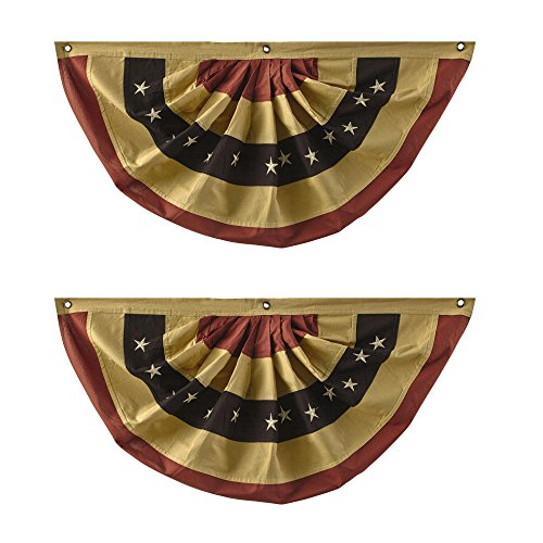 Primitive Red, White and Blue Buntings, 40 x 20 (Set of 2) ()