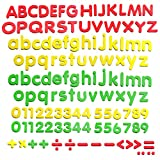 "SpriteGru 123 PCs Magnetic Fridge Letters and Numbers with Uppercase and Lowercase Plus Symbols for Alphabet Vocabulary Math (Each Measures About 1.2"" x 1.5"")"