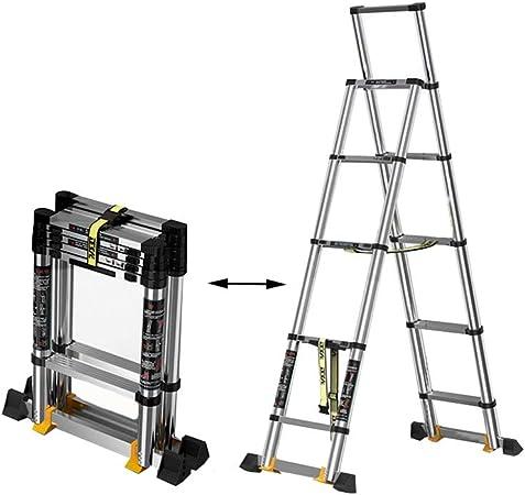 XSJZ escalera telescópica plegable de espiga, 5 + 6 escalones de aleación de aluminio grueso, escalera telescópica portátil escalera escalera escalera escalera escalera casa escalera espiga interior escalera plegable escalera: Amazon.es: Hogar