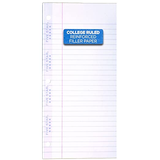 AmazonCom  Five Star Reinforced Filler Paper College Ruled