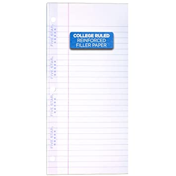 amazon co jp reinforced filler paper 20 lb college ruled 11 x
