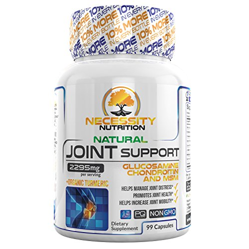 Joint Support Supplement Capsules Glucosamine Tumeric MSM Chondroitin – For Pain Relief Gluten Free Advanced Natural Health 99 Count Supports Healthy Cartilage Tissue Joints Non GMO Anti-Inflammatory