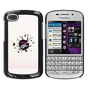 Todo va a estar bien - Metal de aluminio y de plástico duro Caja del teléfono - Negro - BlackBerry Q10