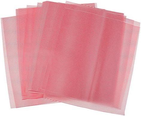 赤いストリップ防水ドライワックス紙食品キャンディハンブルクラッパー50枚