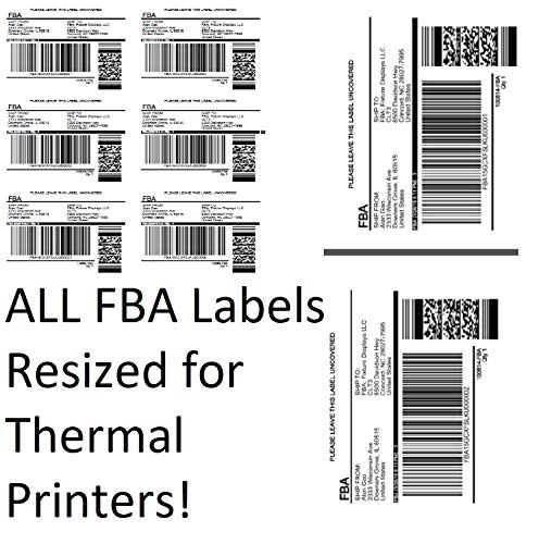 Amazon FBA Label Split Resizer Software Print Direct to Thermal Printer Free Labels 1-Month Subscription SPLITALL-1MONTH-NPF! by FixtureDisplays (Image #1)