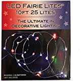 BATTERY OPERATED 25/L ULTRA THIN LED MULTICOLOR FAIRIE STRING LIGHT SET