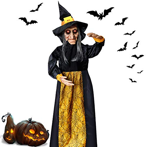Halloween Witches Decorations - LUKAT Halloween Hanging Witch Decoration Glowing