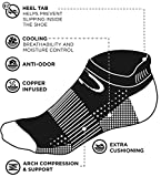 Copper Fit Unisex Copper Infused No Show Socks - 3