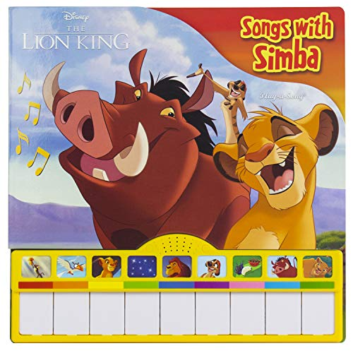Disney The Lion King - Songs with Simba Piano Songbook with Built-In Keyboard - PI Kids