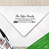 Arrow Calligraphy Return Address Stamp, MS-REC-22