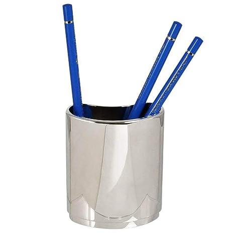 Pencil/Pen Holder Silver Plated, Pen U0026 Pencil Holder Desk Organizer, Office  Desk
