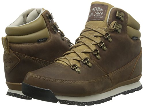 The North Face Back-To-Berkeley Redux Leather Mens (10.5M, Carafe Brown/Ketchup Red)