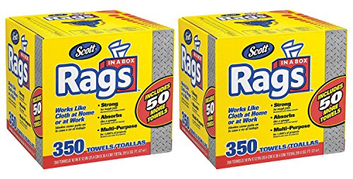 SCOTT Rags In A Box - 350ct (Pack of 2)