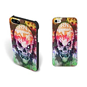 Colorful Printing Skeleton Iphone 5 Case Cover Unique Cool Skull Design Hard Plastic Iphone 5s Case Skin for Men Protective