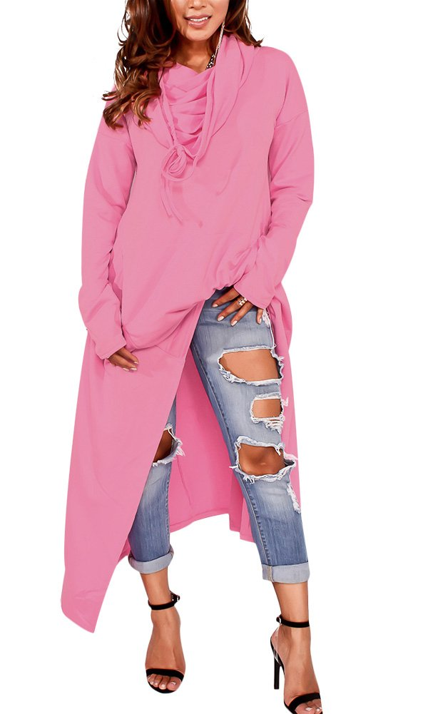 Girl Teen Casual Loose Fit Cool Hoodies Sweater Hoodies Pullover Overall Pink