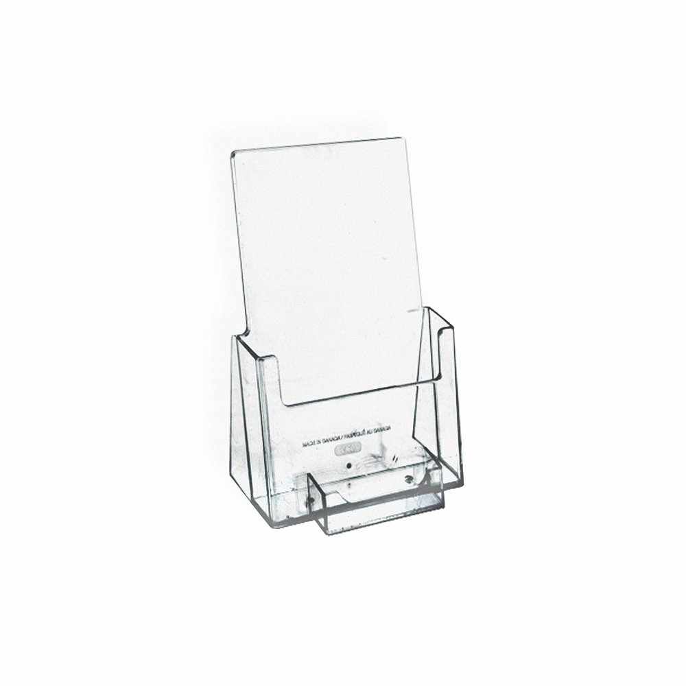 Azar Displays 252922-50PK Counter Trifold Brochure Holder with Business Card Pocket